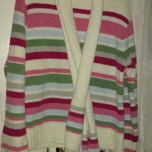 Brand new stripped sweater with scarf
